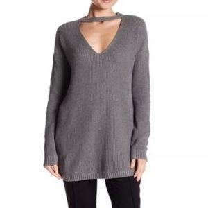 NEW Vince Camuto Gray Knit Sweater V Neck Size M